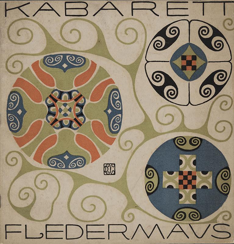『キャバレー〈フレーダーマウス〉上演本』 第1号(表紙・装丁:カール・オットー・チェシュカ)1907年