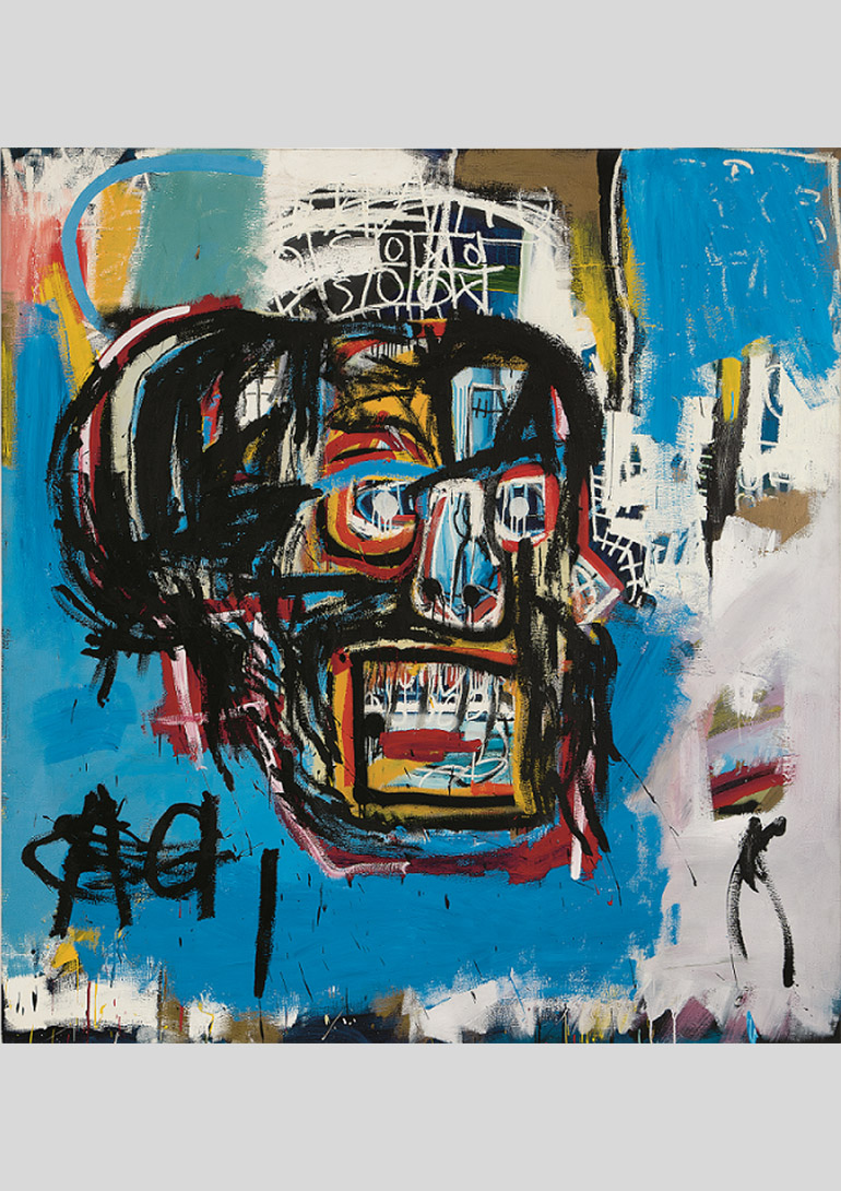 ジャン=ミシェル・バスキア  Untitled, 1982 Oilstick, acrylic, and spray paint on canvas 183 x 173 cm Yusaku Maezawa Collection, Chiba Artwork © Estate of Jean-Michel Basquiat. Licensed by Artestar, New York