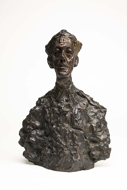 アルベルト・ジャコメッティ《ヤナイハラ Ⅰ》1960-61 年 国立国際美術館蔵 撮影:福永一夫