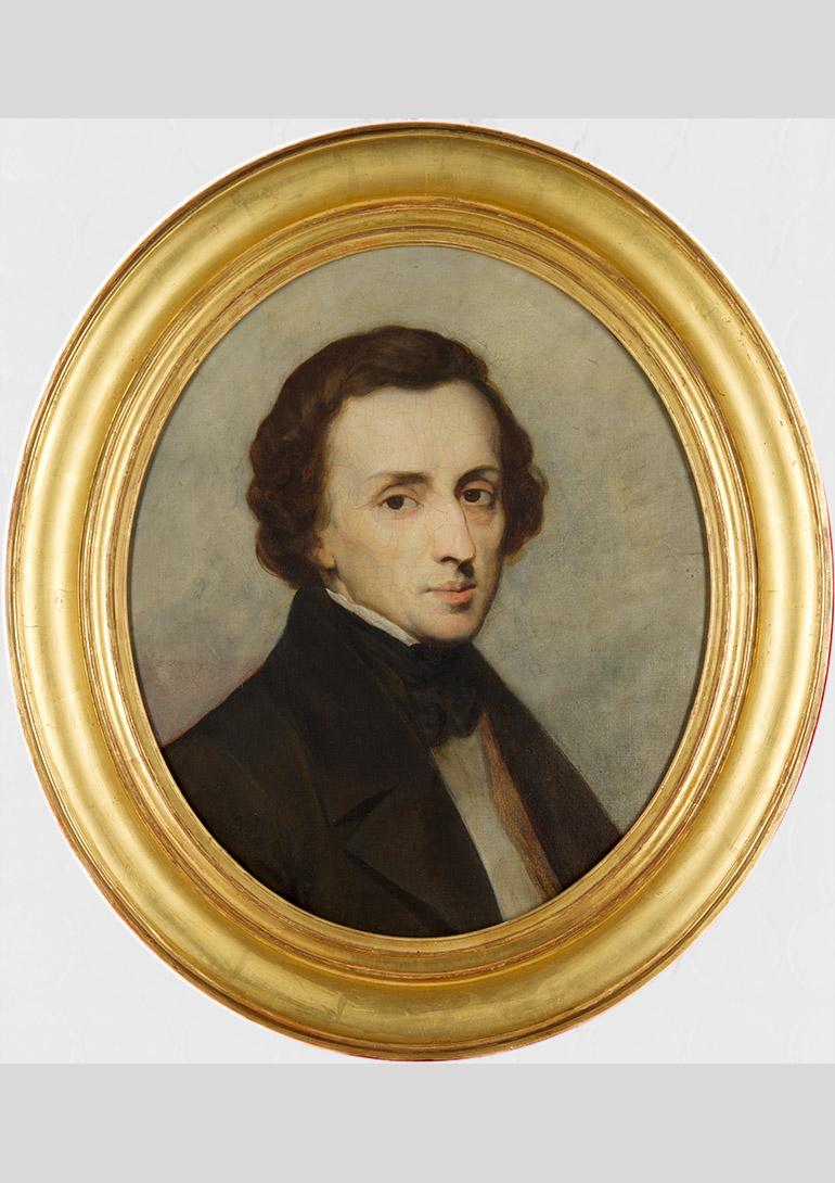 《フリデリク・ショパンの肖像》 アリ・シェフェール、1847年、油彩、カンヴァス credit:Dordrechts Museum