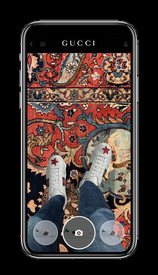 ファッション ブランドとして、初めて公式アプリにARによるシューズ試着コンテンツを導入した「GUCCI」